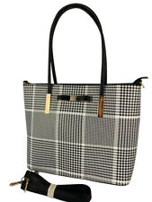 5156708e4855 New Women Ladies Designer Check Tote Bag Leather Style Quality Shoulder  Handbag