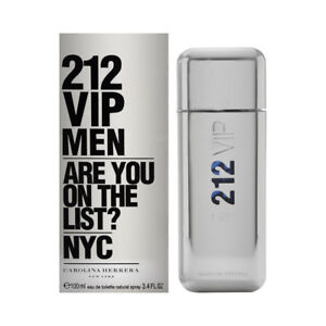 212 VIP Men by Carolina Herrera for Men 3.4 oz EDT Spray Brand New