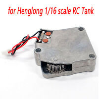Metal Rotation Gearbox Model Steering Gearbox for 1/16 Scale RC Tank Model Parts