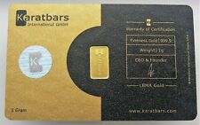 SEALED 1 GRAM KARATBAR NADIR GOLD BAR .9999 PURE Silver Hologram Light Gold Card