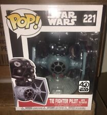 Star Wars TIE Fighter Vinyl Vehicle w/ TIE Pilot Deluxe Funko Pop! #221 IN STOCK