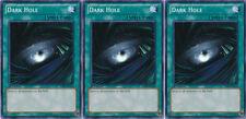 3x Yugioh YSKR-EN028 Dark Hole Common Card