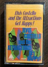 GET HAPPY! ELVIS COSTELLO CASSETTE + INSERT ISRAELI PYRAMID LABEL JAPAN RARE