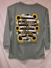 Youth Simply Southern T-shirt Long Sleeve Color Hazel Size Medium CHOOSE TO SHI