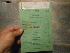 Vintage Cedar Crest Hotel Restaurant Menu Lafayette Indiana