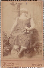 Amelia Hill Dwarf Fat lady Wendt cabinet card c.1880 Age 18 465 pounds