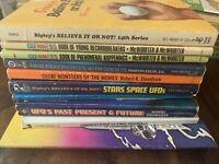 Lot of 11 Vintage UFO Monster Ripken's Alien Abduction Books 1969s-1980s