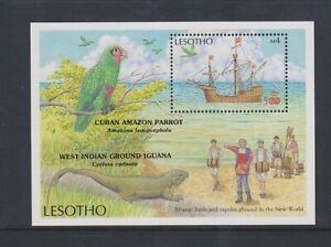 Lesotho - 1987, Discovery Of America Foglio - Nuovo senza Linguella - Sg MS785