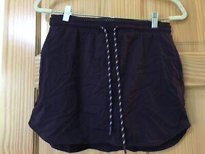 New Member's Mark Women's Woven Trek Skort w/ Pockets Skirt Shorts Plum