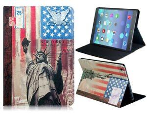 Ipad 1/2/3 Smart Cover Case Statue Of Liberty Kickstand Design Protective TPU