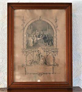 CERTIFICAT DE PREMIERE COMMUNION XIX-ème SIECLE-1881-encadré