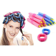 12Pcs Soft Foam Curlers Makers Bendy Twist Curls Tool DIY Styling Hair Roller AU