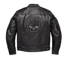 Harley-Davidson Reflective Skull Leder Jacke Gr. L Herren Motorrad Lederjacke