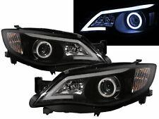 IMPREZA Outback 2008-2013 COB Projector Headlight LED BLACK SUBARU WRX RHD