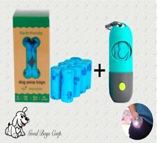Dog Poop Bags 100% Biodegradable + Dispenser W/ LED Flashlight. COLORS VARIETY!!