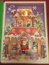 Jingle Bell Rock musical cantando Libro De Navidad Santa's Workshop 28.5cm