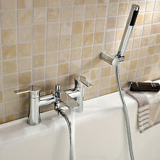 PERTH BATH SHOWER TAP MIXER WITH PENCIL HANDSET AND FIXING BRACKET SOLID BRASS A
