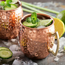 530ml 18oz Moscow Mule Coffee Mug Cup Drinking Hammered Copper Brass Cups USA