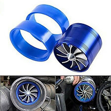 Eco Gas/Fuel Saver Fan Blue Aluminum Jet Turbo Blade Supercharge Tornado Intake