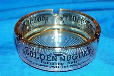 Old Golden Nugget Las Vegas Casino Ashtray Vintage Souvenir Gambling Hotel Gold
