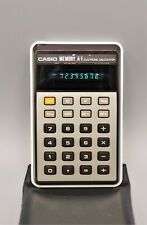 Antigua calculadora Casio memory A-1 electronic calculator H-814, funcionando