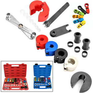 22x Car Air Conditioning Hose Fittings Fuel Pipe Line Disconnect Tool Puller Kit