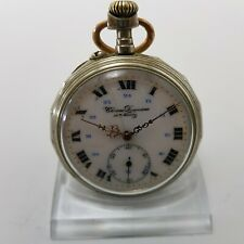 Rare Pocket Watch Large Open Face Chrono Duquesne Anancy Pocket Watch