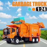 1/24 Garbage Truck Model Metal Diecast Recycling Clean Garbage Car Kid Toy Gift