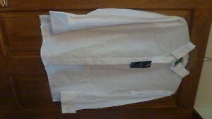 M&S Italian Cotton Blouse/Shirt, 12, white, long sleeves