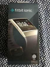Fitbit Ionic  Fitness Smartwatch (FB503) Blue Gray Band Silver Case