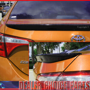 For 2014-2017 2018 2019 TOYOTA Corolla Factory Style Spoiler PAINTED GLOSS BLACK