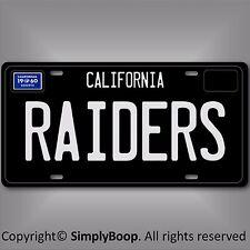 Oakland Raiders 1960  California NFL Football Team Aluminum Vanity License Plate
