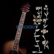 Hummingbird Flower Guitar Bass Inlay Sticker Fret Fretboard Makers Decals