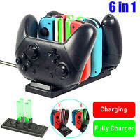 6 in 1 Charging Dock Station for Nintendo Switch Console Joy-Con Pro Controller