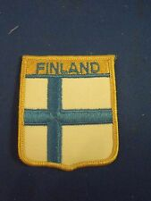 Vintage Finland Country National Flag Embroidered Iron On Patch