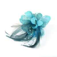 Women Pearl Brooch Hair Clip Flower Fascinator Feather Hairpin Party Wedding Lot