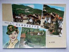 Saluti da CLAUZETTO ragazza Alpino Pordenone vecchia cartolina