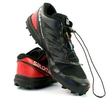 Salomon S Lab Fellcross 3 Men 8.5 Women 9.5 Black Red Trail Racing Shoes 368781
