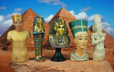 K1166 5p Egypt Egyptian Civilization King Tut Nefretiti Mummy Cake Topper Figure