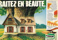 PUBLICITE ADVERTISING  1980   XYLADECOR   protection du bois ( 2 pages)