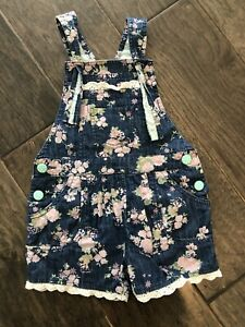 MATILDA JANE Floral Overalls Outfit Size 4