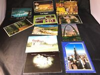 Vintage Lot Used Postcards Las Vegas Yellowstone New Orleans St. Louis Mixed