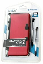 NEW RED Aluminum Shell with 2 Retractable Stylus Pens for the OLD Nintendo 3DS