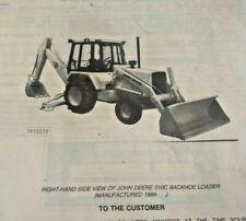 John Deere 310c Backhoe Loader Parts Manual Catalog List Book Jd Pc2068