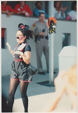 Vintage 80s PHOTO Young Woman Dressed In Minnie Mouse Costume At Work Party