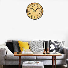 38cm Large Wooden Wall Clock Home Room Office Decoration Silent Working Antique