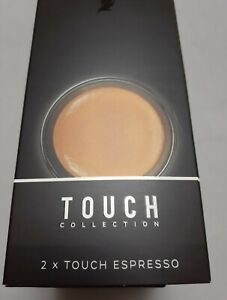 Nespresso 2 Touch 80ml Black Porcelain Rubber Bottoms Set of 2 Cups