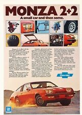 1976 Chevrolet Monza 2+2 Original Advertisement Print Car Ad J538