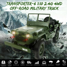JJRC Q65 1//10 2.4Ghz Open Car RC Off-road Military Jeep 4WD Rock Crawler Toy RTR