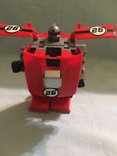 Red Transforming Race car Robot•China Transformer